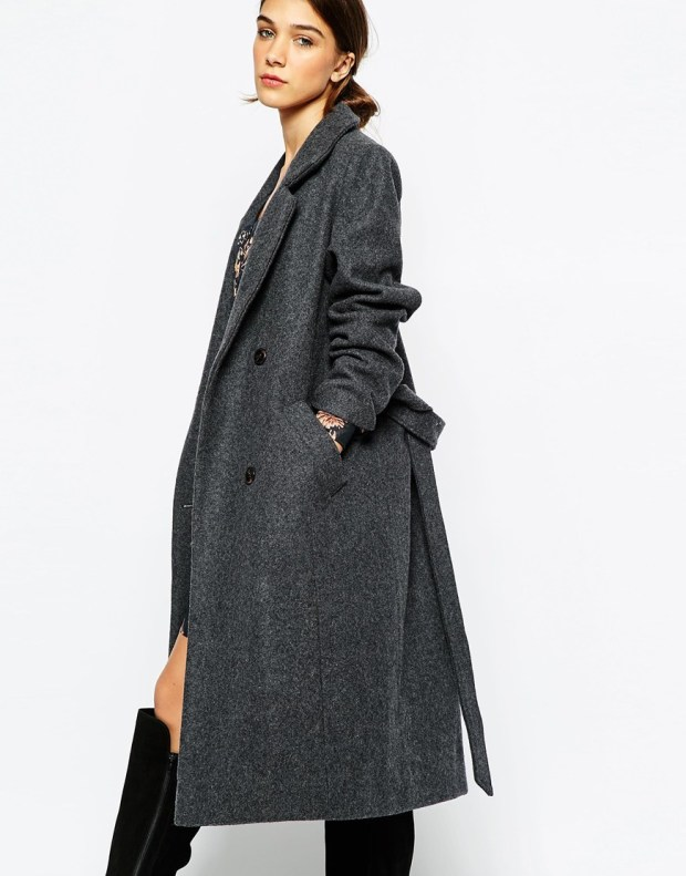 Ganni long grey coat
