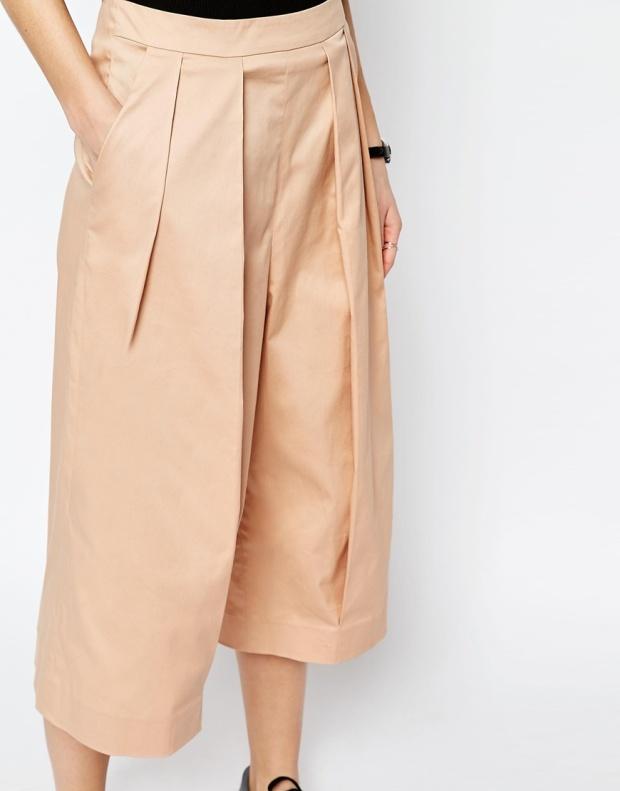 ASOS white wide leg culottes